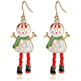Everydaying Handmade Christmas Dangle Hook Earrings, Holiday Party Drop Earrings, Festival Gift Idea, Thanksgiving Themed Earrings, Small Cute Christmas Costume Jewelry for Women Girls