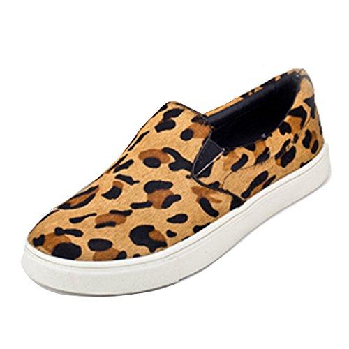 Gaorui ,  Damen Sneaker Low-Tops , mehrfarbig - leopard - Größe: 35,5 EU