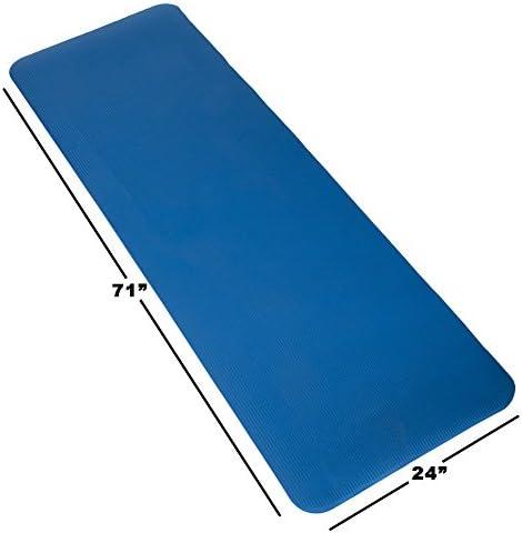 Wakeman Fitness - Esterilla de ejercicio para yoga (180 x 60 x 0,5 cm), color azul 6