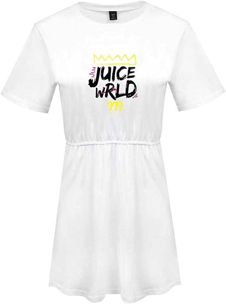 Vestidos Casuales Cortos Verano, Juice Wrld Impreso Vestidos de Talla Grande Mujer Camiseta Color SóLido con Cuello Redondo: Amazon.es: Ropa y accesorios