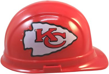 Texas American Safety Company NFL Kansas City Chiefs Hard Hats with Ratchet Suspension 2