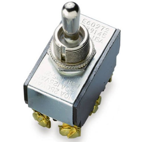Gardner Bender GSW-16 Heavy-Duty Electrical Toggle Switch, DPDT, ON-(OFF)-ON, 20 A/125V AC, Screw (Heavy Duty Electrical)
