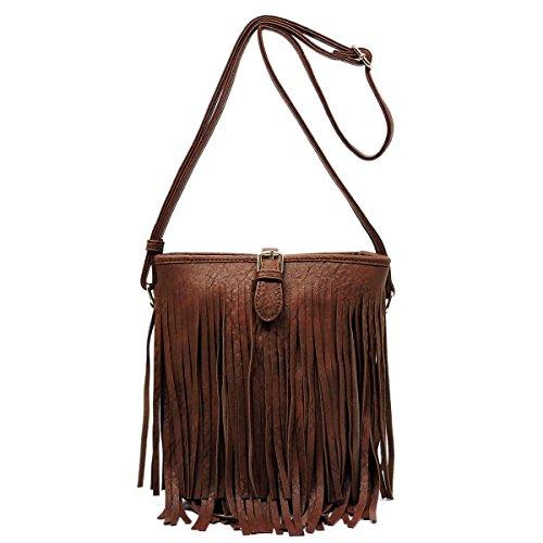 Simply Be Black Fringe Across Body Bag puGkLe