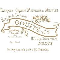 TODO-STENCIL Deco Vintage Composición 168 Goffe. Medidas aproximadas: