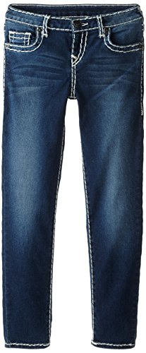 True Religion Girls' Casey Skinny Jean-Natural Super T, Ancient, 10 by True Religion