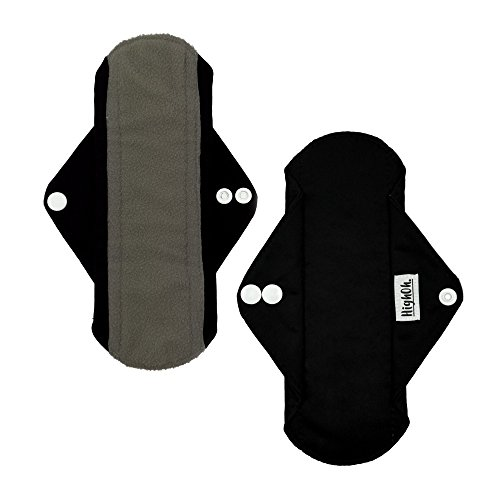er | Washable Charcoal Bamboo Cloth Menstrual Pad | Bladder Support & Incontinence Pads | Reusable Sanitary Napkins | 1 Medium Flow Cloth Pad ()