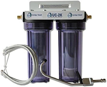 Fluoride Wide Spectrum Undersink Water Filter w Third Faucet