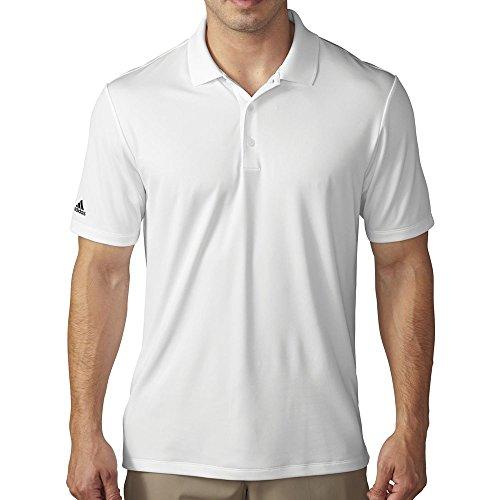adidas Golf Men's Performance Polo, White, Large