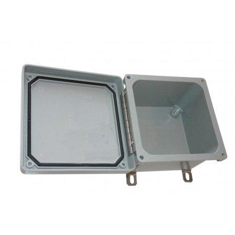 BUD Industries AO-94501-88 Bud NF6614 NEMA 4X Fiberglass Box with Screw Cover and Mounting Brackets
