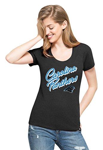 - '47 NFL Carolina Panthers Women's Club Scoop Tee, Large, Jet Black