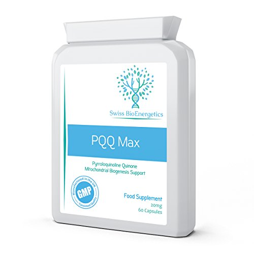 PQQ Max 20mg 60 Capsules - Pyrroloquinoline Quinone next generation cellular rejuvenator and like Co-Q10 a powerful antioxidant - supporting Mitochondrial Health, Memory & The Heart Muscle