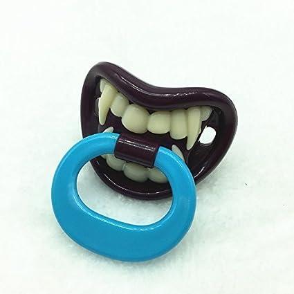 Xiton diversión y el Chupete pequeño Vampiro de Silicona bebé pezón de ortodoncia de bebé único