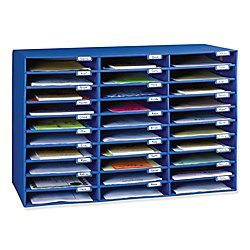 - Classroom Keepers 30-Slot Mailbox, Blue (001318)