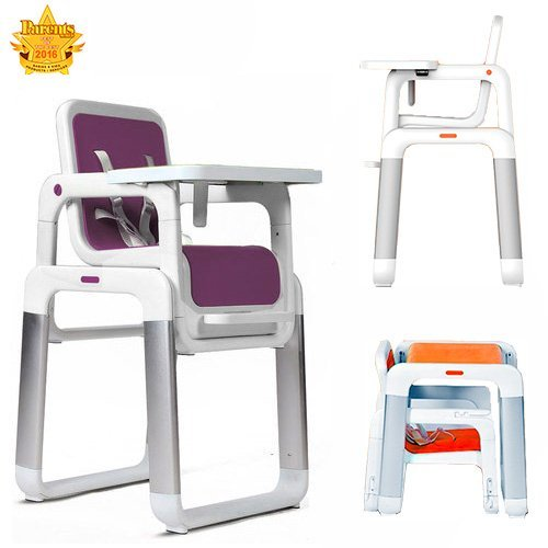 Star Ibaby Pouch–Convertible Highchair in Table + Chair Purple