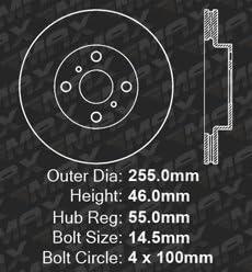 KM039731 Max Brakes Front Supreme Brake Kit Premium Slotted Drilled Rotors + Ceramic Pads Fits: 2013 13 Toyota Yaris w//Rear Drum Brakes