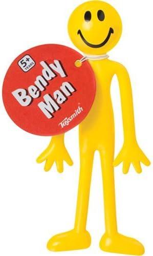 """Toysmith 1395 5/"""" Yellow Bendy Man Toy"""