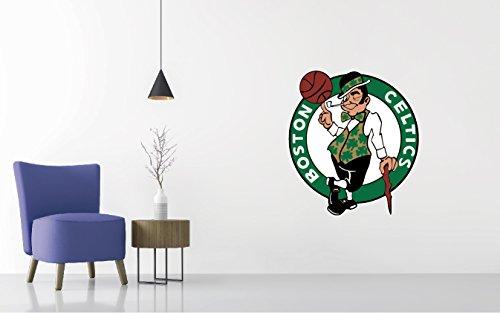 Wall Usa Boston (Basketball Team Logo - Wall Decal Removable & Reusable For Home Bedroom (Wide 20