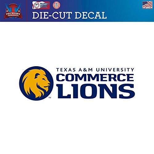 Texas A&M Commerce Lions Die-Cut Vinyl Decal Logo 2 (Approx 6x6) Texas A&m College Vinyl