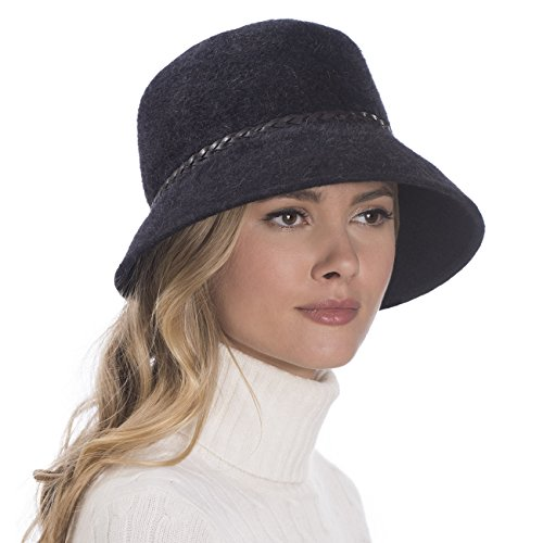 Eric Javits Luxury Fashion Designer Women's Headwear Hat - Tatum - Black by Eric Javits
