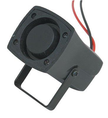 Jameco Valuepro SL15R3120LA-R Audio Siren Buzzer, Piezo 12 VDC, 250 mA Wire Lead, 6 VDC, 1500 Hz to 3500 Hz Bracket Mount, 40 mm H x 57.5 mm L 44.5 mm W