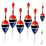 """0.5oz 2""""x5.28""""Slip Bobbers for Fishing Saltwater Freshwater Fishing Bobbers Floats for Crappie Panfish Bass Trout 5Pcs/Set (5pcs Color red and Blue)"""