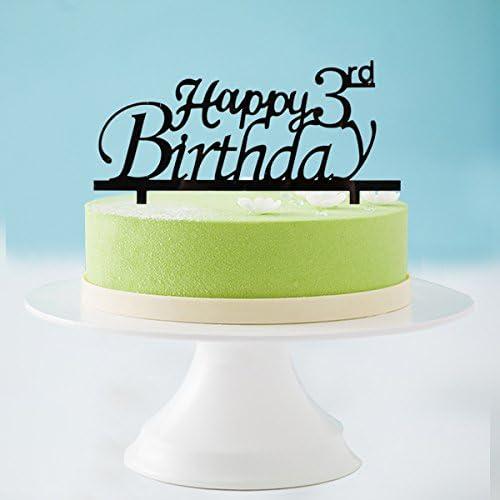 Wondrous Amazon Com Happy 3Rd Birthday Cake Topper 3Rd Birthday Cake Funny Birthday Cards Online Alyptdamsfinfo