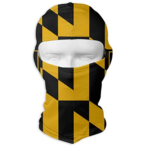 (Winter Balaclava Windproof Helmet Liner Mask Gift for Women Men - Polyester Multifunctional Waterproof Head Wrap for Sports Running, (Baltimore Maryland USA Flag))