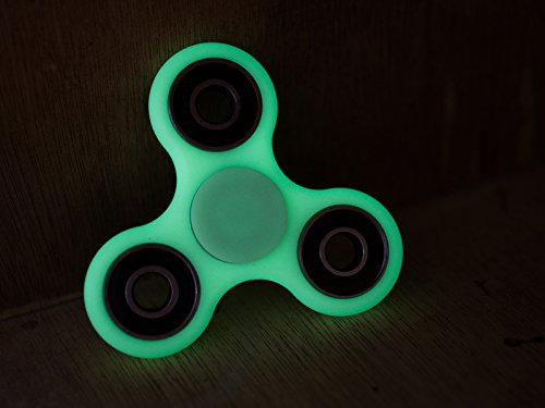 New 2017 light up flashing tri spinner fidget toy adhd for Light up fishing spinners