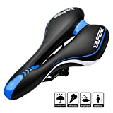 OUDMON Bike Seat Comfort Bicycle Seat for Men Memory Foam Mountain Bike Seat Women Soft Wide Bicycle Saddle Cushion with Waterproof Covers Padded Replacement