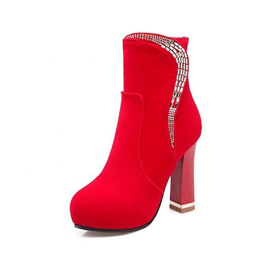 AdeeSu Womens Platform Dress Slip-Resistant Comfort Red 4.5 Microfiber Boots SXC01815 - 4.5 Red B(M) US B077W1TGQP Shoes dd941a