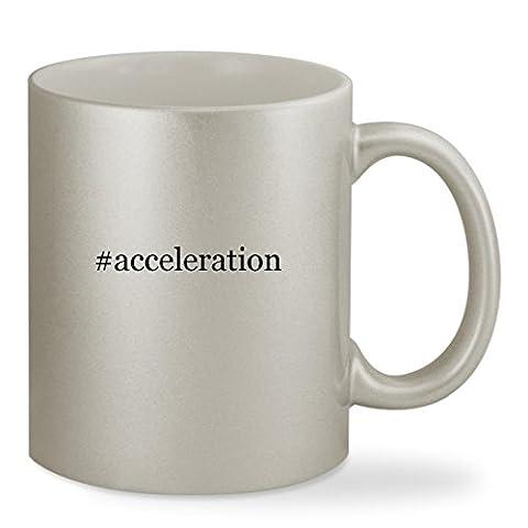 #acceleration - 11oz Hashtag Silver Sturdy Ceramic Coffee Cup Mug (Christian Light Education Math 2)
