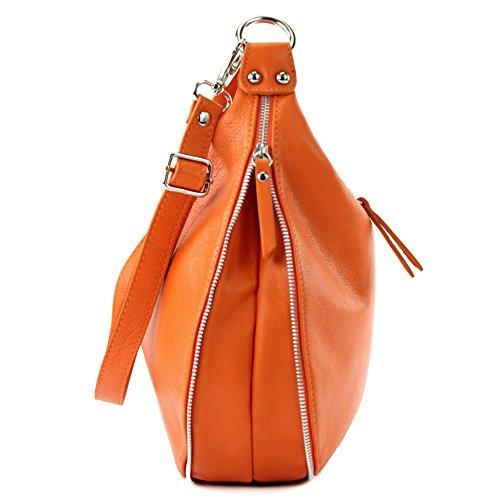 En Modamoda Cuir Nappa À Pour sac De Orange T56 Femme ® Ital Bandoulière Sac q0qFZpA