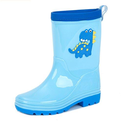 Inside Boy Brisk Verde Cm Blu Boots Colore Children Girls Long 19 Dimensioni Non Baby Rubber Shoes slip Rain Children's tHHS6w