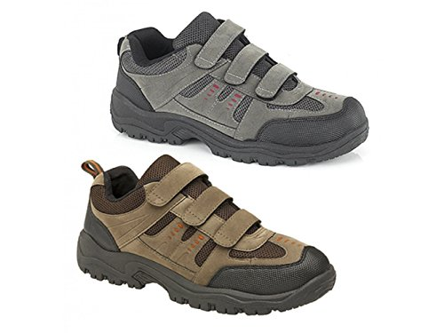 Mens Grey and Black Triple Touch Fastening Trail Shoe - Ascend - Grey/Black - size UK Childrens Size 6 RdOXVC