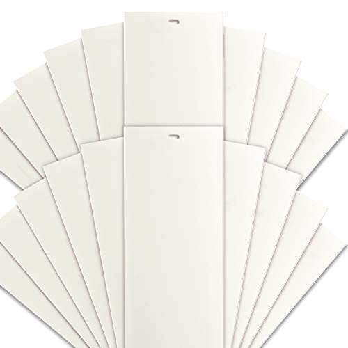 DALIX PVC Vertical Replacement Slats Curved Smooth Ivory 94.5 x 3.5 (20-Pack)