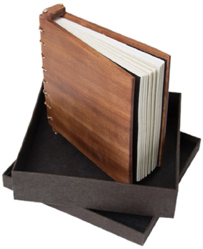 Lokta Box - Wooden Journal (Large) - Handmade in Wales with refillable Lokta paper + Presentation Box