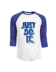 Mens Just Do It 3/4 Sleeve\r\n Burnout Jersey Printed T Shirts