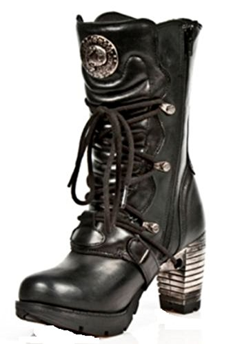 Ladies New Buckle Back S1 Steel Punk Boots Gothic Heel Strap Rock TR003 qSFA7Z