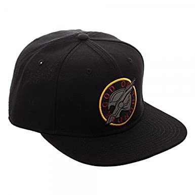 reputable site 5ae44 87dc4 Thor Ragnarok God of Thunder Logo Black Snapback Hat at Amazon Men s  Clothing store