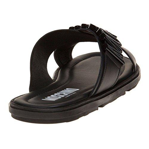 Moschino Stor Logo Formella Mens Sandaler Svart Svart