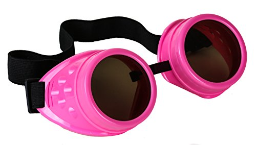 Hot Pink Cosplay Goggles Mad Scientist Wielder Glasses DIY Halloween (Guys Halloween Costumes Diy)