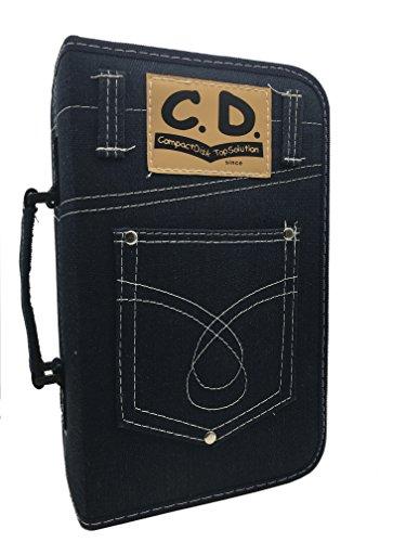 Wismart Denim 128 Capacity CD DVD Blu-Ray Disc Strorage Wallet Holder Case Blue(128 pcs)