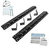 ECOTRIC Fifth Wheel Trailer Hitch Mount Rails and Installation Kits for Full-Size Trucks