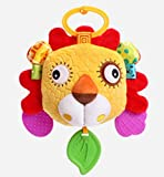 Royarebar Women's Accessories Cosmetic Mirror Kids Infant Lovely Lion Rolling Hand Grasp Mirrors Toy Colorful Safety Mirror Gift