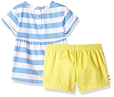 Nautica Girls' Knit Top with Chambray Short Set