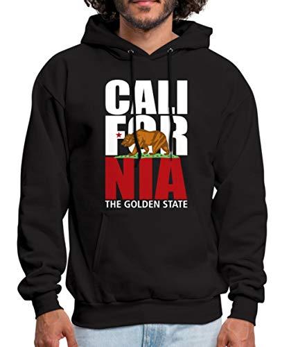 Spreadshirt California Bear Men's Hoodie, M, Black