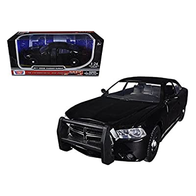 Maisto 2011 Dodge Charger Pursuit Slick Top Unmarked Black Police Car 1/24 Car Model by Motormax: Home & Kitchen
