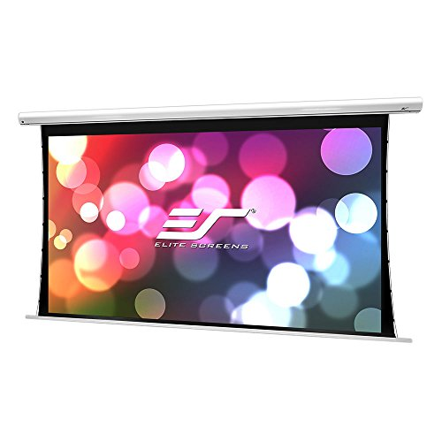 (Elite Screens Saker Tab-Tension B, 150-inch Diag 16:9, Large Electric Motorized Drop Down Projection Projector Screen, Model: SKT150XHWB-E6)