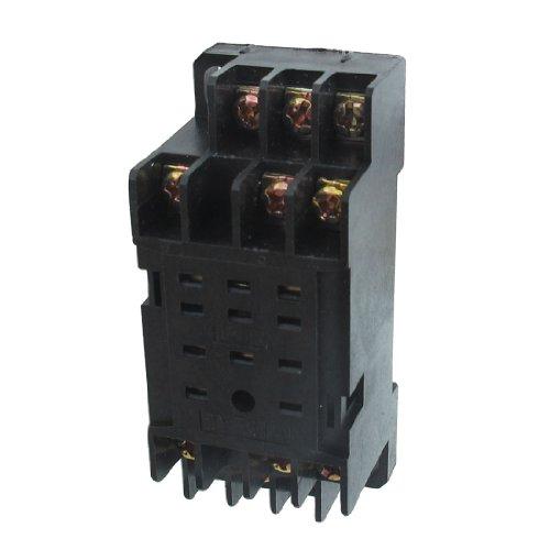 - uxcell DYF-11A 11 Pin Power Relay Base Socket DIN Rail Mount 5 Pcs