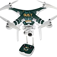Skin For DJI Phantom 3 Professional – Born To Quilt | MightySkins Protective, Durable, and Unique Vinyl Decal wrap cover | Easy To Apply, Remove, and Change Styles | Made in the USA